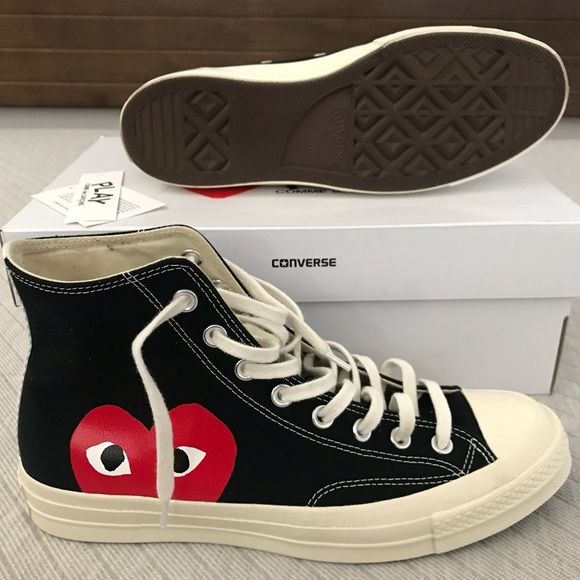 Comme des Garcons Other - CDG Play x Converse chuck Taylor high top black 23c967fe5